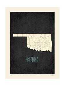 Black Map Oklahoma by Kindred Sol Collective