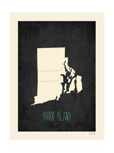 Black Map Rhode Island by Kindred Sol Collective