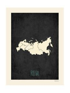 Black Map Russia by Kindred Sol Collective