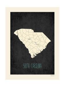 Black Map South Carolina by Kindred Sol Collective