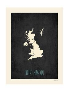Black Map United Kingdom by Kindred Sol Collective