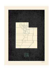 Black Map Utah by Kindred Sol Collective