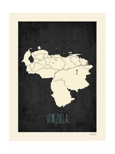 Black Map Venezuela by Kindred Sol Collective