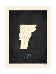 Black Map Vermont by Kindred Sol Collective
