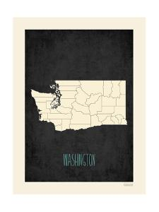 Black Map Washington by Kindred Sol Collective