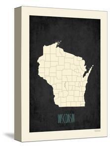 Black Map Wisconsin by Kindred Sol Collective