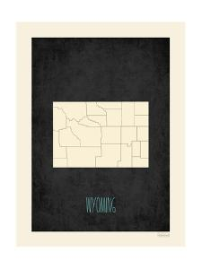 Black Map Wyoming by Kindred Sol Collective