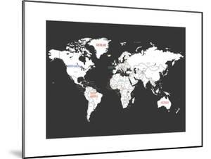 Black World Map by Kindred Sol Collective