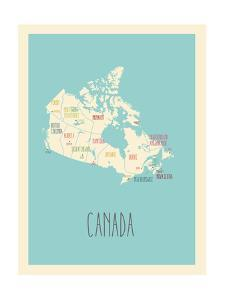 Blue Canada Map by Kindred Sol Collective