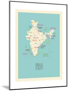 Blue India Map by Kindred Sol Collective
