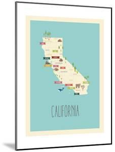 California Blue Map by Kindred Sol Collective
