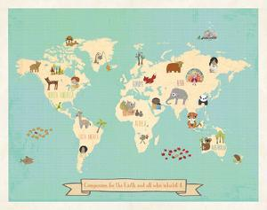 Global Compassion Map poster by Kindred Sol Collective