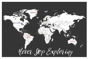 Never Stop Exploring Map in Black by Kindred Sol Collective