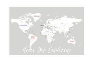 Never Stop Exploring Map in Light Grey by Kindred Sol Collective