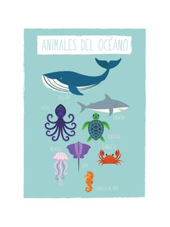 Ocean Animal Print In Spanish by Kindred Sol Collective