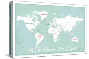 Oh the Places We'll Go in Aqua by Kindred Sol Collective
