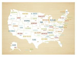 Wood USA Map by Kindred Sol Collective