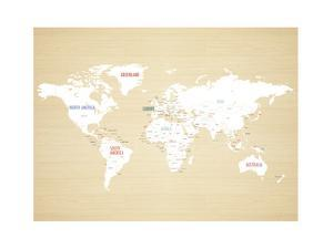 Wood World Map by Kindred Sol Collective