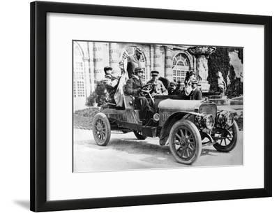 King Alfonso XIII in a Hispano-Suiza Car, Palace of La Granja, Segovia, Spain, C1907
