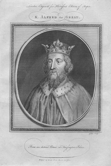 King Alfred the Great, 1785--Giclee Print