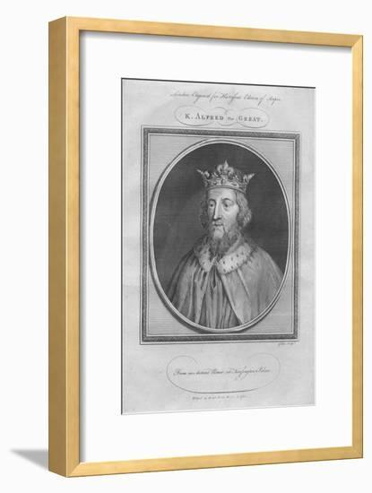 King Alfred the Great, 1785--Framed Giclee Print
