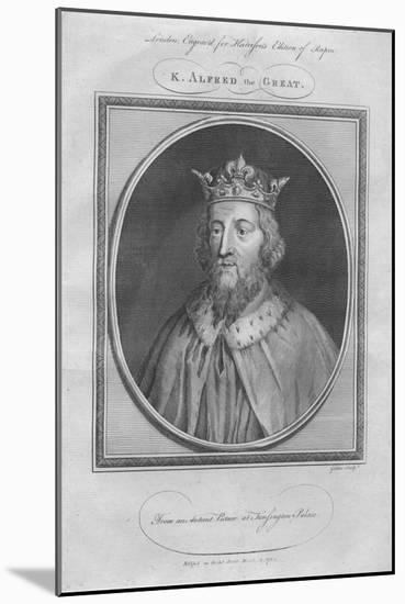 King Alfred the Great, 1785--Mounted Giclee Print