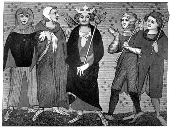 King and Court, Late 13th-14th Century--Giclee Print