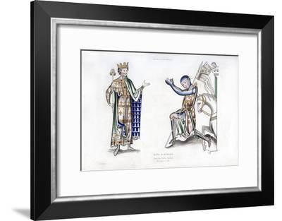 King and Knight, Late 12th Century-Henry Shaw-Framed Giclee Print