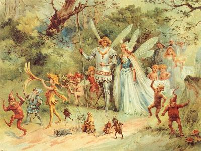 King and Queen Fairy, 1910--Giclee Print