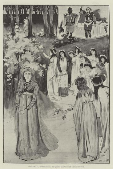 King Arthur, at the Lyceum, the Queen's Maying in the Whitethorn Wood-Cecil Aldin-Giclee Print