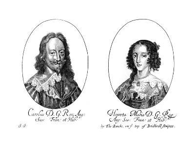King Charles I (1600-164) and Queen Henrietta Maria (1609-166)--Giclee Print