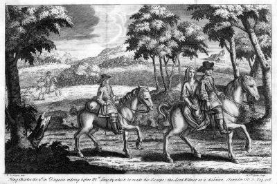 King Charles II Escaping from England, 1651- Gucht-Giclee Print