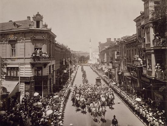 King Charles Ii of Romania Entering Sofia, June 11, 1910, Bulgaria--Giclee Print