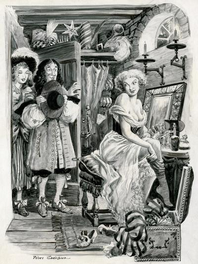 King Charles II Visiting Nell Gwynn in Her Dressing Room-Peter Jackson-Giclee Print