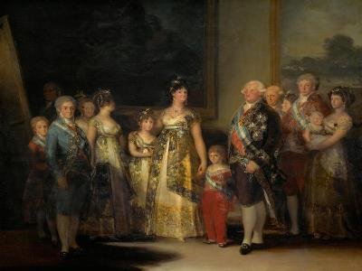 King Charles IV (1748-1819) of Spain and His Family-Francisco de Goya-Giclee Print
