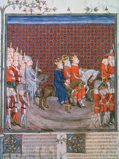 King Charles IV Entering Paris, (1375-137)--Giclee Print