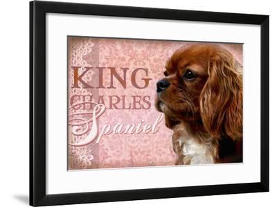 King Charles Spaniel-Wendy Presseisen-Framed Premium Giclee Print
