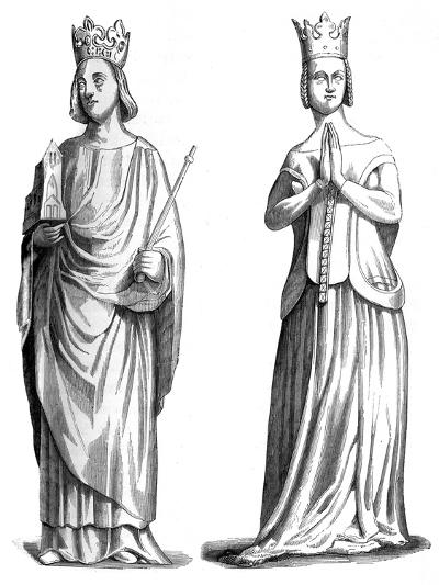 King Charles V of France (1337-138) and Joanna of Bourbon (1338-137), 1849--Giclee Print