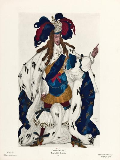 King. Costume Design for the Ballet Sleeping Beauty by P. Tchaikovsky, 1921-L?on Bakst-Giclee Print