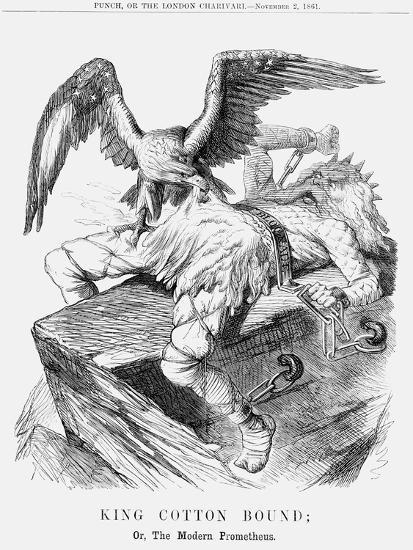 King Cotton Bound; Or, the Modern Prometheus, 1861--Giclee Print