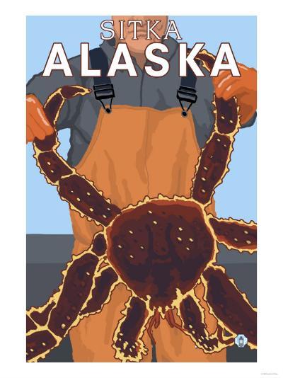 King Crab Fisherman, Sitka, Alaska-Lantern Press-Art Print