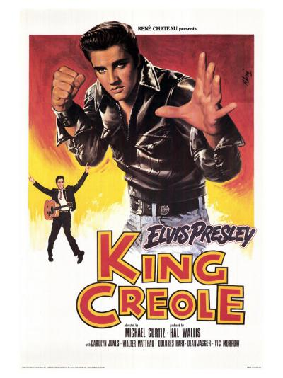 King Creole, French Movie Poster, 1958--Art Print