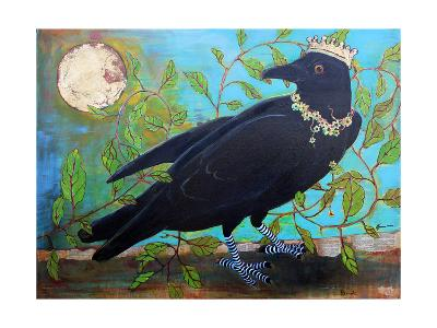 King Crow Messenger of Creation-Blenda Tyvoll-Art Print