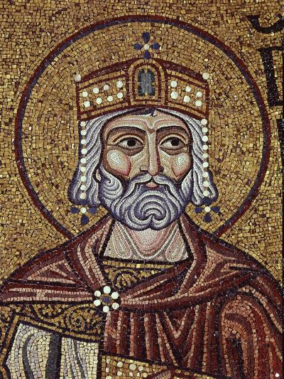 King David (Detail of Interior Mosaics in the St. Mark's Basilic), 12th Century--Giclee Print
