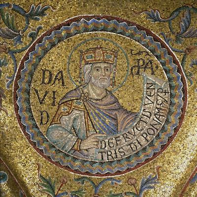 King David (Detail of Interior Mosaics in the St. Mark's Basilic), 13th Century--Giclee Print