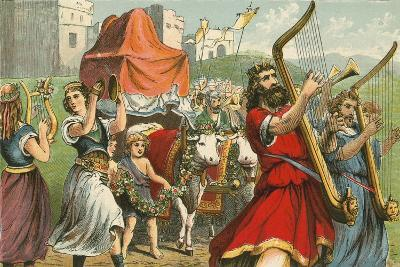 King David Fetching the Ark of the Covenant-English School-Giclee Print