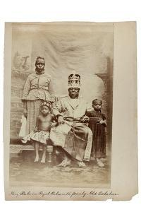King Duke in Royal Robes with Family, Old Calabar, Nigeria, C.1890