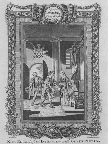 'King Edgar's first Interview with Queen Elfrida', c1787-Unknown-Giclee Print