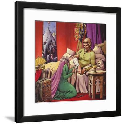 King Edward I, the Warrior King-Pat Nicolle-Framed Giclee Print