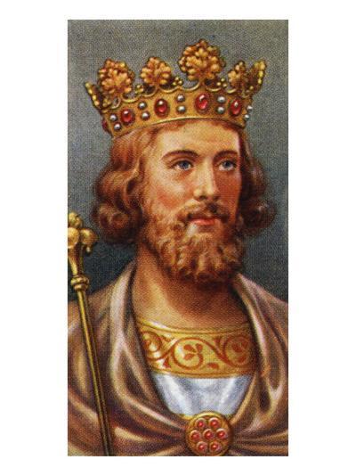 King Edward II portrait (reigned 1307 - 1327)--Giclee Print